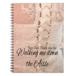 Gracias del papá del paso por caminar yo abajo del cuaderno