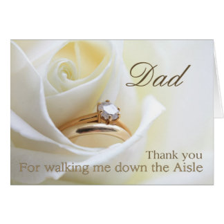Gracias del papá por caminar yo abajo del pasillo tarjeta de felicitación