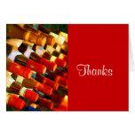 Gracias del rojo o del blanco tarjeton