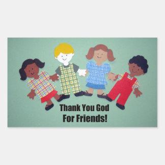 Gracias dios por amigos pegatina