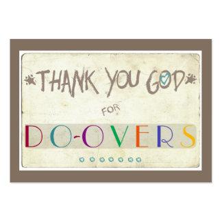 Gracias dios por Hacer-Excedentes Tarjetas De Visita Grandes