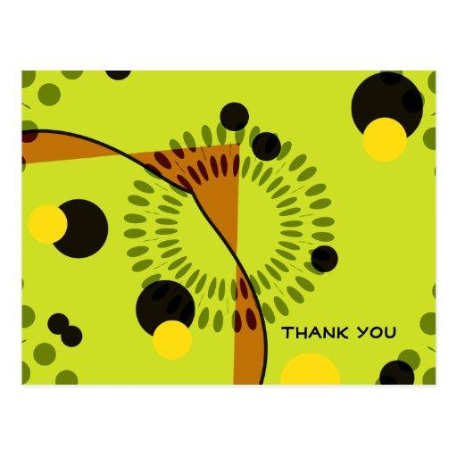 Gracias diseño abstracto de moda de los círculos postales