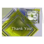 Gracias diseño floral del gran trabajo felicitaciones