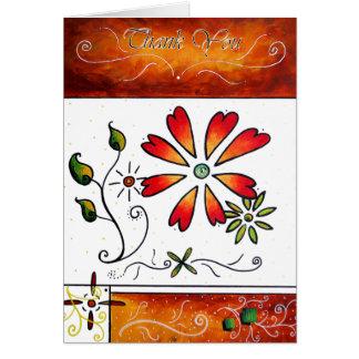 Gracias diseño original del arte por MADART Tarjeta De Felicitación