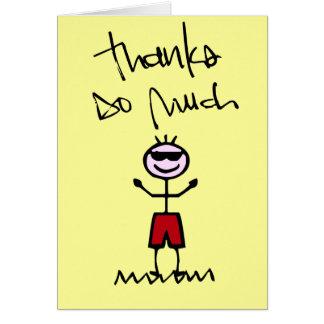 gracias doodle desgaste del wallie tarjeta pequeña