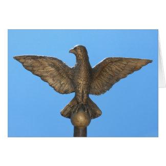 Gracias: Eagle y cielo azul Tarjetón