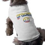 Gracias! Ecuador Flag Colors Pet Tee Shirt