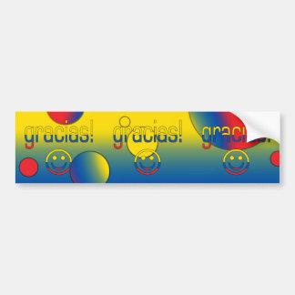 Gracias! Ecuador Flag Colors Pop Art Bumper Sticker