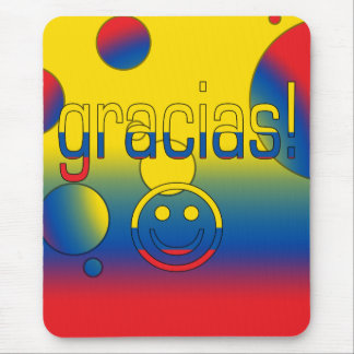 Gracias! Ecuador Flag Colors Pop Art Mouse Pad