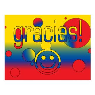 Gracias! Ecuador Flag Colors Pop Art Postcard