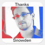 Gracias Edward Snowden Pegatina Cuadrada