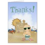 ¡Gracias! El bebé fresco de la playa le agradece c Tarjetas