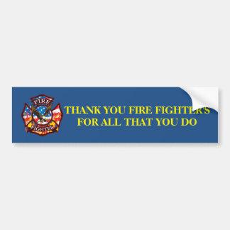 Gracias el bombero por todos que usted lo haga pegatina para auto