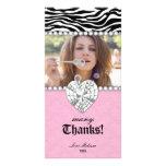 Gracias el dulce 16 de la joya de las perlas del c tarjeta fotografica