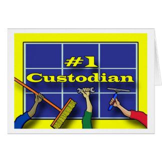 Gracias el guardián, herramientas del comercio tarjeta de felicitación