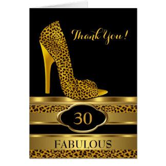 Gracias el leopardo 2 de la celebración de la fies tarjeta