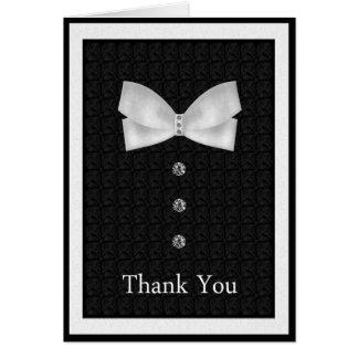 Gracias el mejor boda del hombre tarjeta