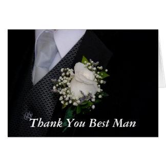 Gracias el mejor hombre tarjeta de felicitación