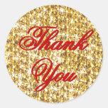 Gracias el oro en el mundo pegatinas redondas