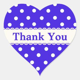Gracias el pegatina del lunar/la etiqueta azules y