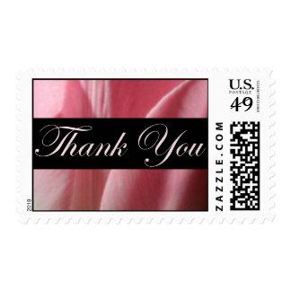 Gracias el sello negro y rosado del boda
