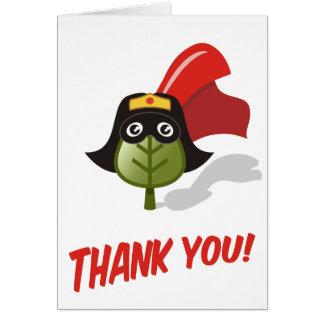 Gracias el super héroe de la genealogía (femenino) tarjeta pequeña