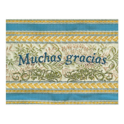 Gracias en español, Muchas Gracias Postales