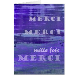 Gracias en francés tarjeta de felicitación