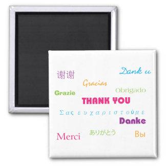 Gracias en imán de muchas idiomas