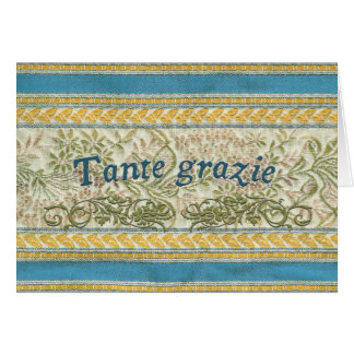 Gracias en italiano, Tante Grazie Tarjeta De Felicitación