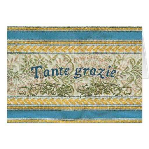 Gracias en italiano, Tante Grazie Tarjeton