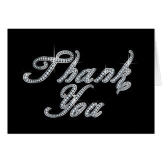 Gracias en la escritura de Bling del Tarjeta De Felicitación