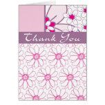 Gracias en la floración tarjeta