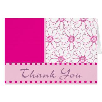 Gracias en la floración tarjeta de felicitación