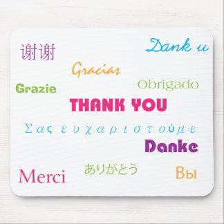 Gracias en muchas idiomas Mousepad Alfombrilla De Ratón