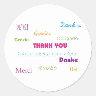 Gracias en pegatina de muchas idiomas