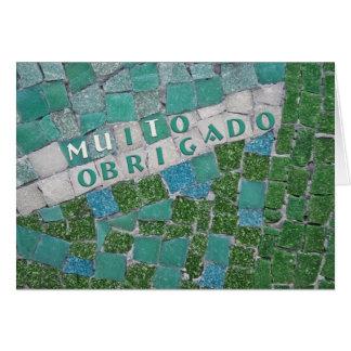 Gracias en portugués del varón felicitaciones