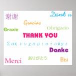 Gracias en poster de muchas idiomas póster