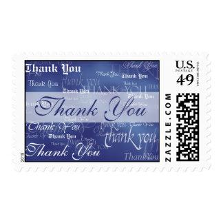 Gracias en sello azul