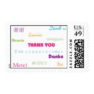 Gracias en sello de muchas idiomas