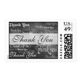 Gracias en sello gris