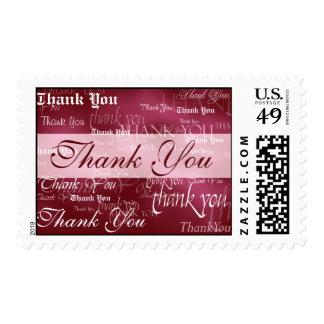 Gracias en sello rojo