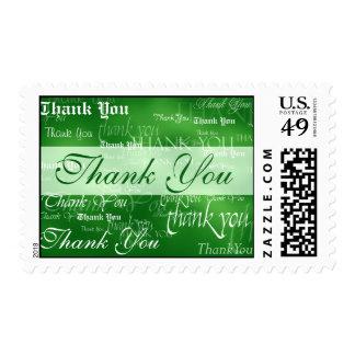 Gracias en sello verde