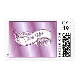 """""""Gracias"""" en sellos púrpuras"""