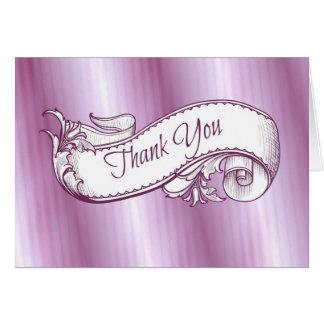 """""""Gracias"""" en tarjeta púrpura"""
