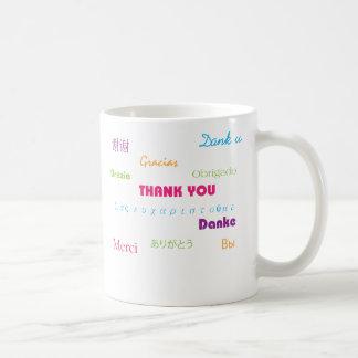 Gracias en taza de muchas idiomas