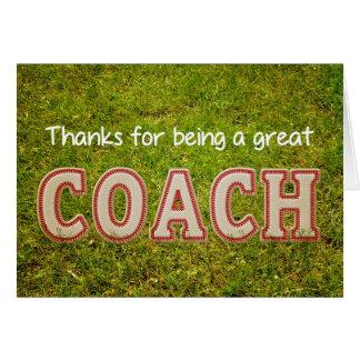 gracias entrenador de béisbol felicitaciones