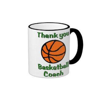 Gracias entrenador de béisbol taza de café