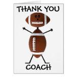 Gracias entrenador de fútbol tarjetas