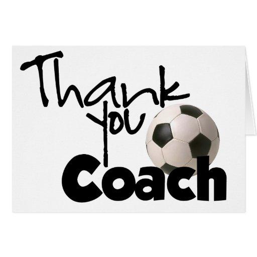 Gracias entrenar, fútbol felicitación